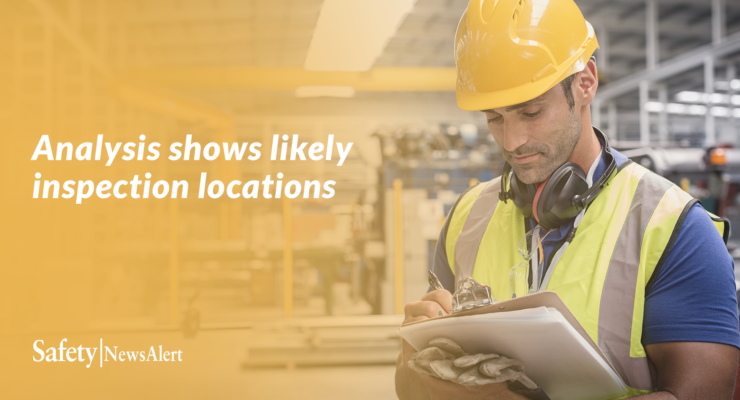 analysis shows likely inspection locations