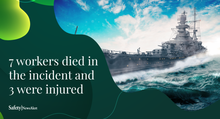 7 workers died in the incident and 3 were injured