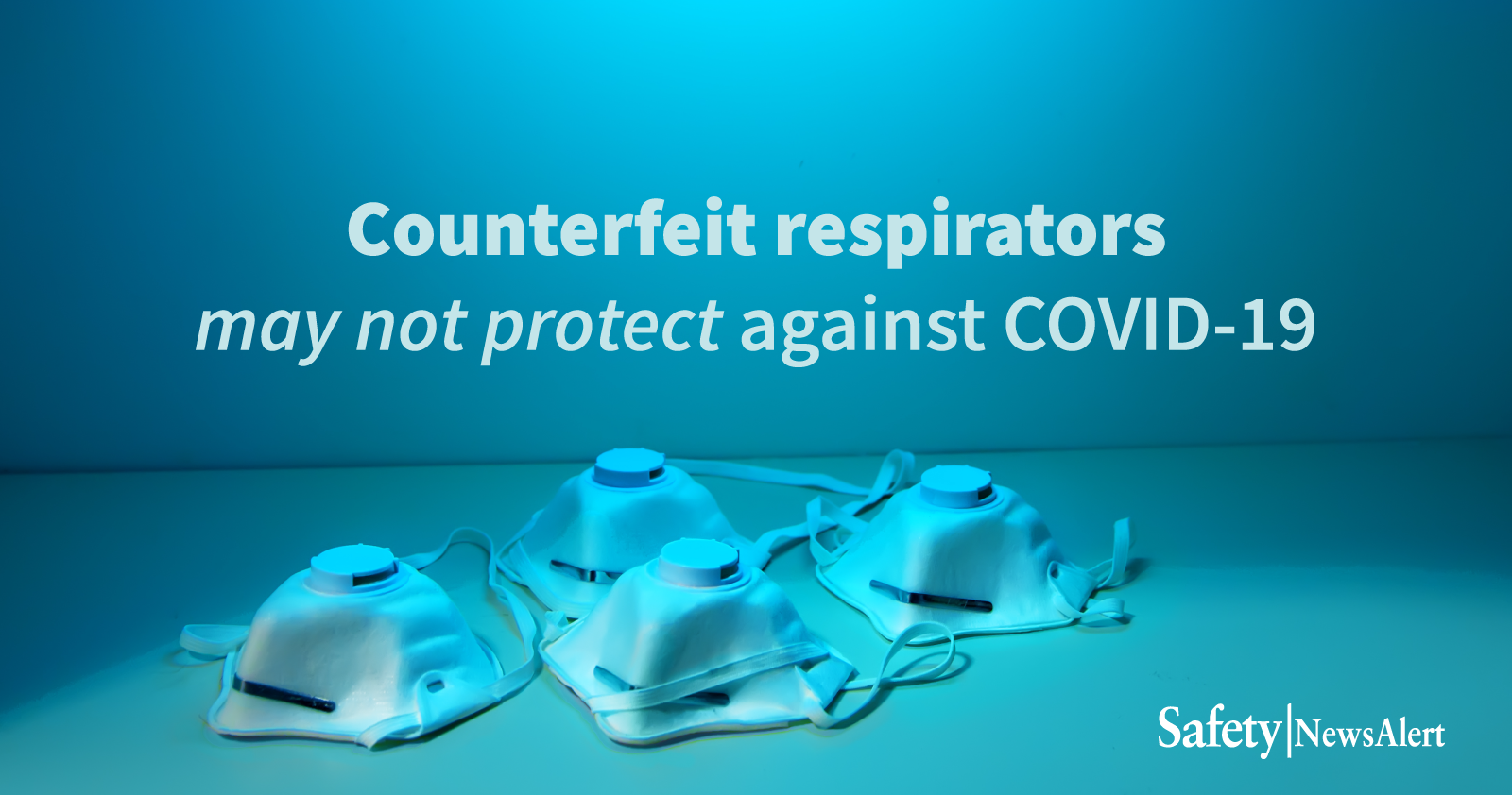 CCDC Warning Counterfeit Respirators