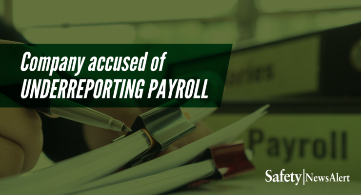 company accused of under reporting payroll