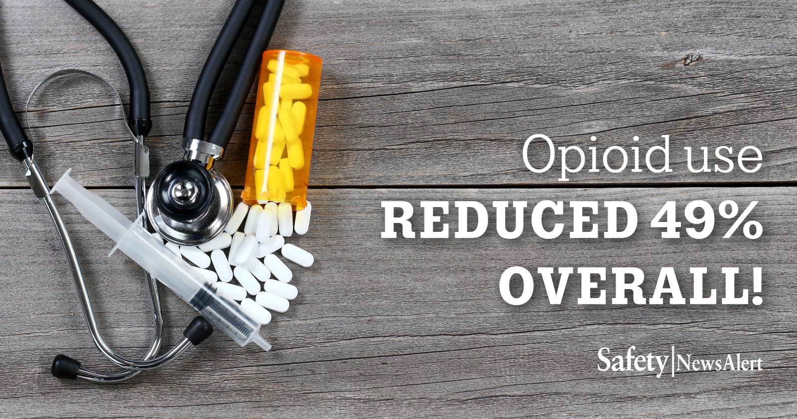 opioid use reduced 49 percent overall