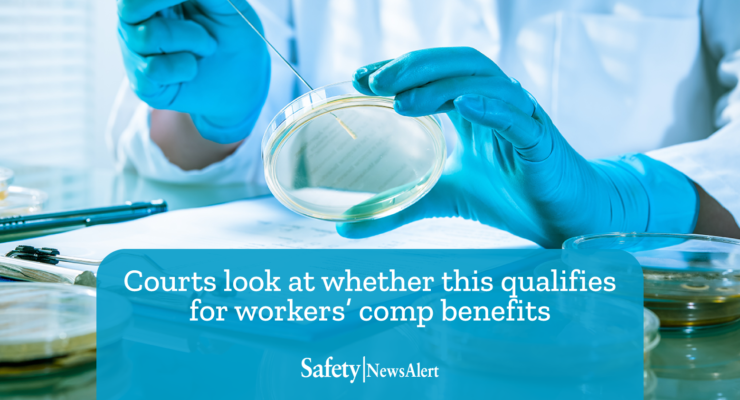 courts look at whether this qualifies for workers comp benefits