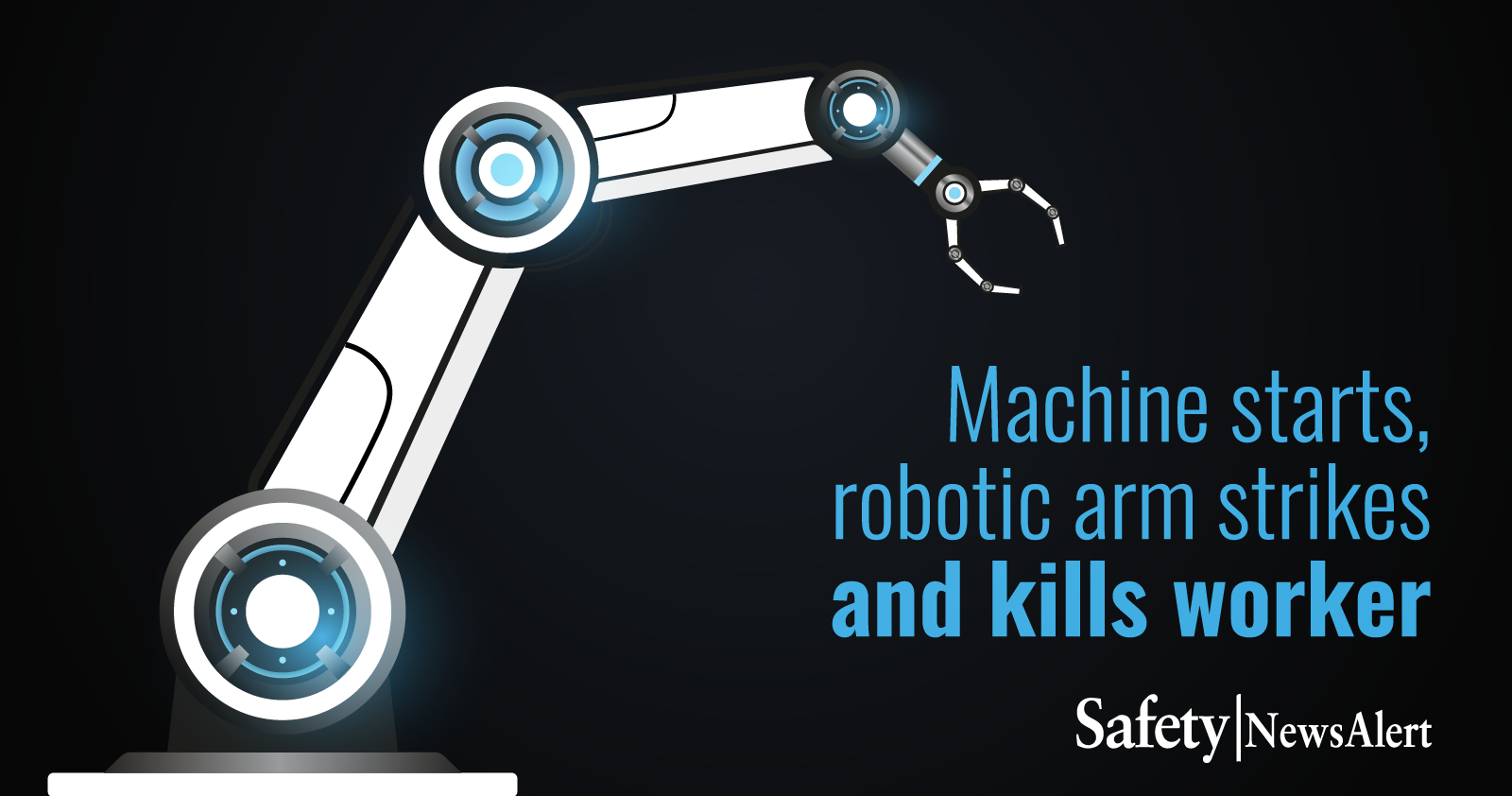 machine starts robotic arm strikes and kills worker