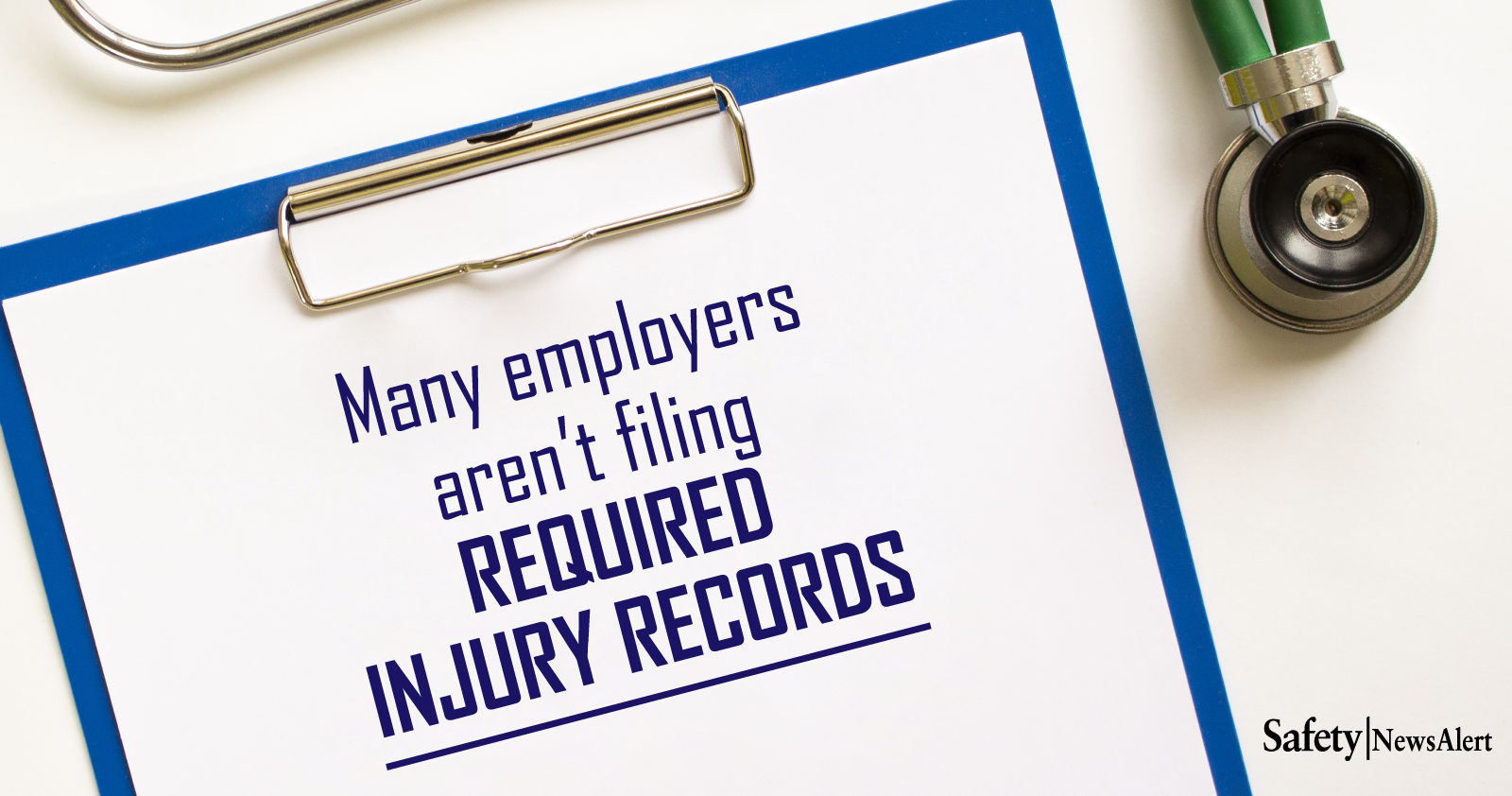 many employers are not filing required injury records