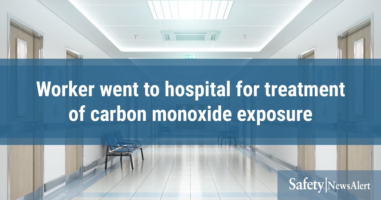 worker went to hospital for treatment of carbon monoxide exposure